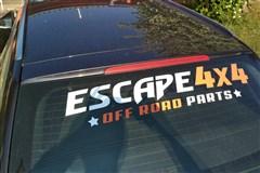 Nálepka Escape4x4 bílá / černá 80cm
