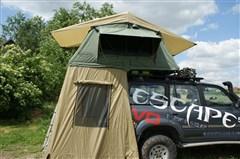 Střešní autostan Escape 120 cm s vestibulem pro 2-3 osoby