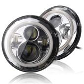 """Přední homologované LED lampy 7"""", Chrom (2 ks)"""